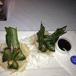deep fried chicken with Pandan leaves