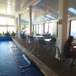 Breakfast around the indoor pool