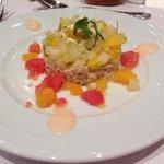 Chair de crabe et Salade d'agrumes