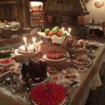 Le délicieux buffet des desserts...