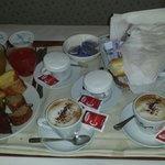 Ricchissima colazione in camera!