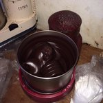 Chocolate in the mixer