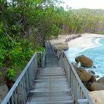 Arrivée pour l'accès à la plage