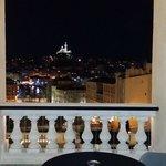 Vue terrasse de nuit