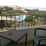 View to our balcony