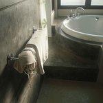 bath tube area