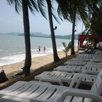 quiet beach, get lots of hawkers walking up and down beach selling their wares , sundeds need cl