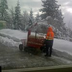 hotel had its own snow plough clearing its grounds