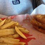 Good fish sandwich & homemade fries