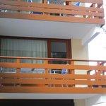 Vue du balcon depuis l'extérieur