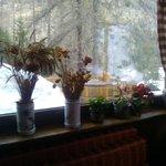 La vasca Jacuzzi esterna  dalla vetrata del soggiorno