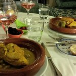 Dinner in the Moroccan restaurant