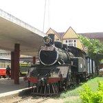 Japanese Steam Train at Dalat Railway Station.