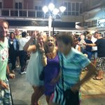 Dancing in square, fantastic evening and lovely tapas too