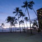 夕方のビーチ