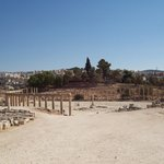 The ruins of ancient Roman Gerasa