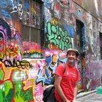 Dave & Cultural Walk laneway grafitti