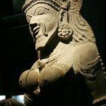 A statue thats half man & Half woman... maybe represents a transgender?