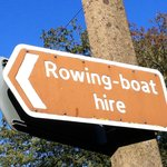 We hire rowing boats by the hour