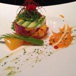 Miso seafood tartar