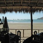 View of San Juan Del Sur from our table