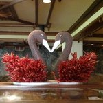 This sculpture fascinated me - chillis and poppy seeds I think