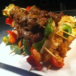 Satay lamb skewers