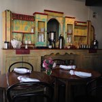 Antique hutch in dining room