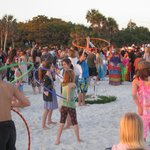 Siesta Key Beach Sunset Drum Circle