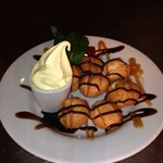 Delicious profiteroles served at Beech Hurst