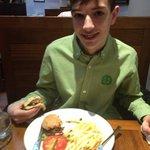 excellent boy filling burger!