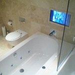 tv in bathroom ... woop woop