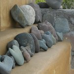 Heart-shaped rocks on display
