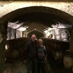 """Inside one of the """"wine caves"""" we were allowed to visit!"""