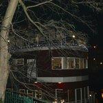 Barka-Restauracja wieczorem