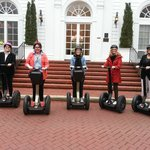 The 5 Campbell Girls on Segways in Charlotte