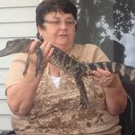 Holding gators after our ride