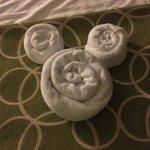 room 7234 towel Mickey head