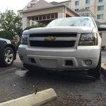 Hotel parking spot