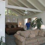 living room/bedroom area cottage 6