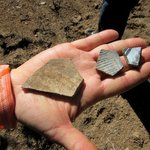 Pottery found from early inhabitants
