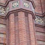 close up of brick work at Arc de Triomf