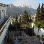 Vue de la terrasse intermédiaire