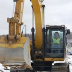 You get to operate a backhoe or they have other large equipment too