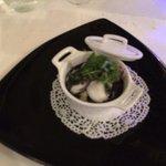 risotto crémeux de seiche ,black and white