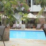 La piscina es un área de total relajación