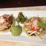 Special cod and sea scallop sopes with guacamole, pico de gallo and lime