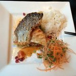 Red snapper in Thai red sauce