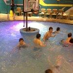 My son enjoyed playing water b-ball