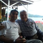 Mr. Jamil with his customer